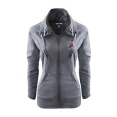 Ladies Sport Wick Stretch Full Zip Charcoal Jacket-Mascot