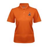 Ladies Orange Dry Mesh Polo-Mascot