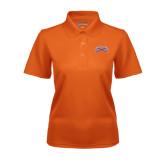 Ladies Orange Dry Mesh Polo-Crossed Axes