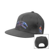 Charcoal Flat Bill Snapback Hat-Crossed Axes