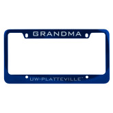 Metal Blue License Plate Frame-Grandma