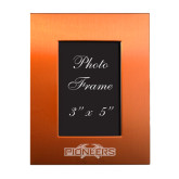 Orange Brushed Aluminum 3 x 5 Photo Frame-Official Logo Engraved