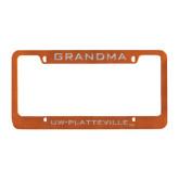 Metal Orange License Plate Frame-Grandma