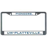 Metal License Plate Frame in Black-Mascot