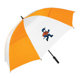 62 Inch Orange/White Umbrella-Mascot