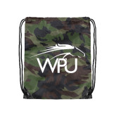 Camo Drawstring Backpack-WPU Primary Mark