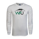White Long Sleeve T Shirt-WPU Primary Mark