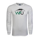 White Long Sleeve T Shirt-WPU Primary Mark