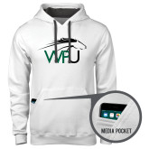 Contemporary Sofspun White Hoodie-WPU Primary Mark
