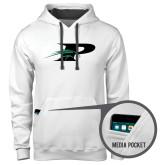 Contemporary Sofspun White Hoodie-P w/Pacer