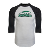 White/Black Raglan Baseball T-Shirt-Arched Pacer w/ Pacer