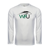 Performance White Longsleeve Shirt-WPU Primary Mark