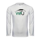 Syntrel Performance White Longsleeve Shirt-WPU Primary Mark