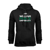 Black Fleece Hoodie-William Peace University Stacked