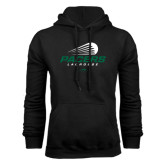 Black Fleece Hoodie-Pacers Lacrosse Stacked