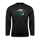 Performance Black Longsleeve Shirt-WPU Primary Mark