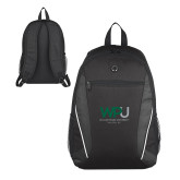 Atlas Black Computer Backpack-WPU William Peace University