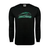 Black Long Sleeve TShirt-Arched Pacer w/ Pacer