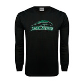 Black Long Sleeve TShirt-Arched Pacer w/ Pacer Distressed