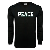 Black Long Sleeve TShirt-PEACE