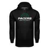Under Armour Black Performance Sweats Team Hoodie-Pacers Volleyball Stacked