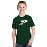 Youth Dark Green T Shirt-P w/Pacer