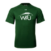 Under Armour Dark Green Tech Tee-WPU Primary Mark