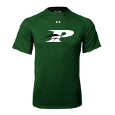 Under Armour Dark Green Tech Tee-P w/Pacer
