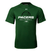 Under Armour Dark Green Tech Tee-Pacers Volleyball Stacked
