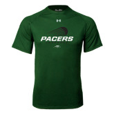 Under Armour Dark Green Tech Tee-Lacrosse