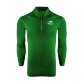 Under Armour Dark Green Tech 1/4 Zip Performance Shirt-WPU Primary Mark