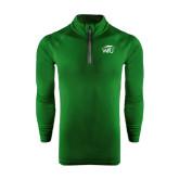 Under Armour Dark Green Tech 1/4 Zip Performance Shirt-WPU Primary Mark
