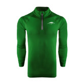Under Armour Dark Green Tech 1/4 Zip Performance Shirt-Pacer Head
