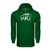Under Armour Dark Green Performance Sweats Team Hoodie-WPU Primary Mark