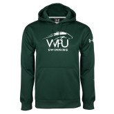 Under Armour Dark Green Performance Sweats Team Hoodie-Swimming