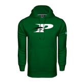Under Armour Dark Green Performance Sweats Team Hoodie-P w/Pacer