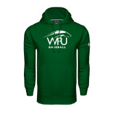 Under Armour Dark Green Performance Sweats Team Hoodie-Baseball