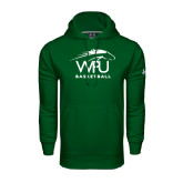 Under Armour Dark Green Performance Sweats Team Hoodie-Basketball