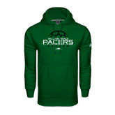Under Armour Dark Green Performance Sweats Team Hoodie-Soccer Ball Stacked Design