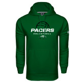 Under Armour Dark Green Performance Sweats Team Hoodie-Pacers Volleyball Stacked