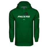 Under Armour Dark Green Performance Sweats Team Hoodie-Pacers Lacrosse Stacked