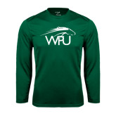 Performance Dark Green Longsleeve Shirt-WPU Primary Mark