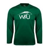 Syntrel Performance Dark Green Longsleeve Shirt-WPU Primary Mark