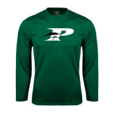Performance Dark Green Longsleeve Shirt-P w/Pacer