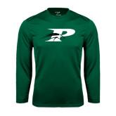 Syntrel Performance Dark Green Longsleeve Shirt-P w/Pacer