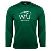 Syntrel Performance Dark Green Longsleeve Shirt-Lacrosse
