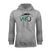 Grey Fleece Hoodie-WPU Primary Mark