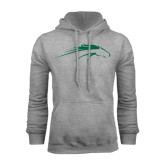 Grey Fleece Hoodie-Pacer Head