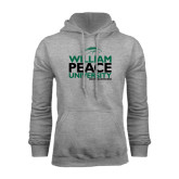 Grey Fleece Hoodie-William Peace University Stacked