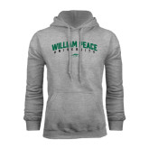 Grey Fleece Hoodie-Arched William Peace University